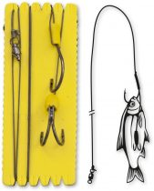 #7/0,#4/0 BLACK CAT BOUY AND BOAT GHOST DOUBLE HOOK RIG 100KG 1DARAB 1,40M